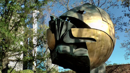 New York City 430 Lower Manhattan financial district; sphere in battery park Footage