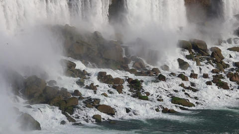 Niagara Falls - The American Falls as Seen from the Canadian Side Footage