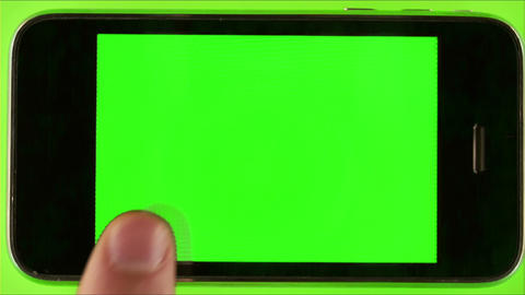 Man Using Smartphone With Green Screen Live Action