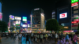 (4K) Night in Shibuya, Tokyo, Japan in Time Lapse Footage