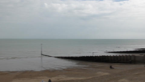 Seaford. The beach on the shores of the English Channel Footage