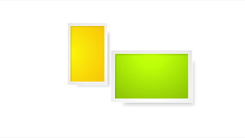 Colorful picture frames abstract video animation Animación
