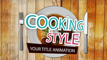 Transition Kitchen animation title After Effects Projekt