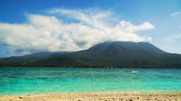 Beautiful beach on tropical island.Camiguin, Philippines.... Stock Video Footage