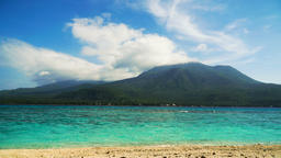 Beautiful beach on tropical island.Camiguin, Philippines. Timelaps Filmmaterial