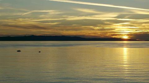 Calm sunset on Adriatic coast