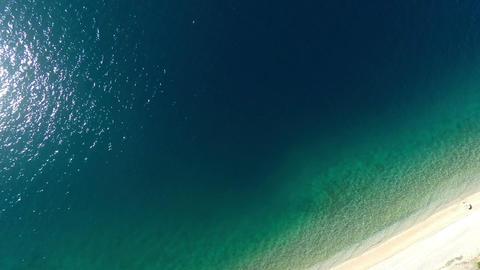 Aerial view of calm sea and beach Filmmaterial