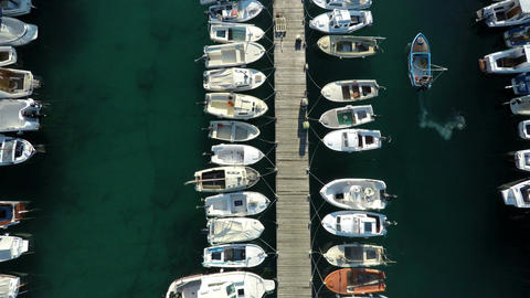 Aerial view of small marine Footage