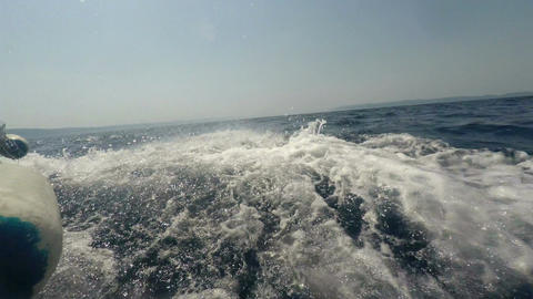 Flickering drops of salt water from the boat Footage