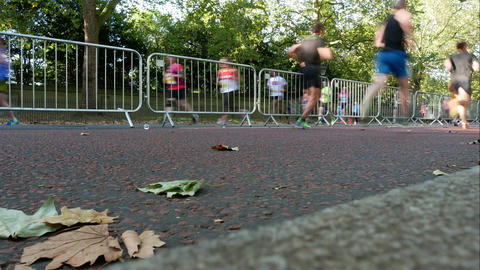 Marathon run time lapse Filmmaterial