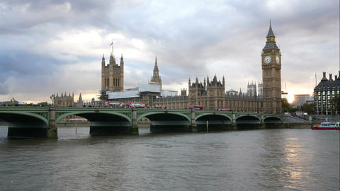 Palace of Westminster time lapse Footage