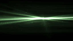 Abstract Green Background With Rays Sparkles Animation