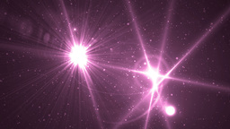 Abstract Pink Background With Rays Sparkles Animation