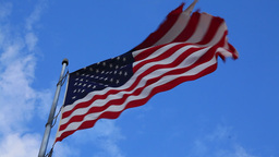 American flag flying in the wind Footage