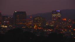 Glendale Night Skyline stock footage