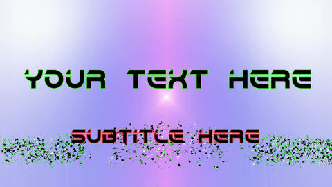 double text animation with newstyle letters After Effects Template