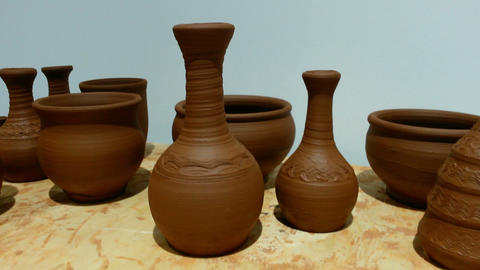 Clay Pots And Jars Footage