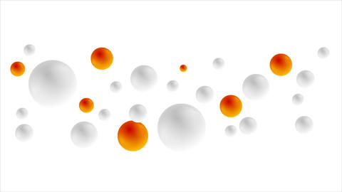 Grey and orange balls animated background Animation