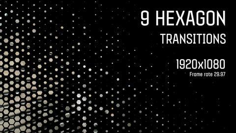 9 Hexagon Transitions Animation
