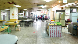 POV outdated foodcourt at 4th floor of Yongle Fabric Market, empty and unkempt Footage