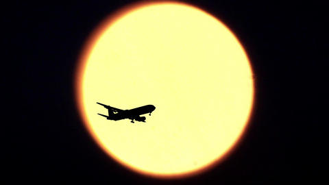 Sun And Airplane stock footage