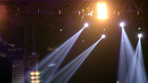 Concert Crowd and Concert Light Footage