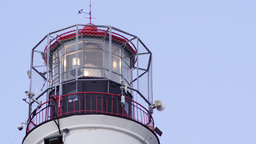 Close up of a working lighthouse tower Footage