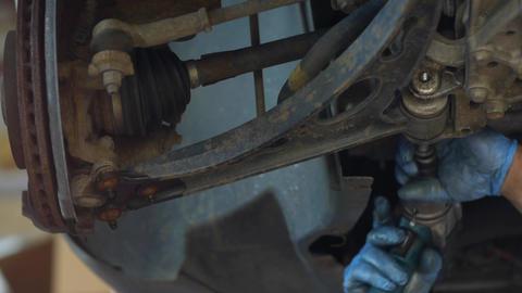 Auto mechanic fix a car problem 32c Footage