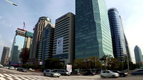 a Cityscape of Seoul, Korea ภาพวิดีโอ