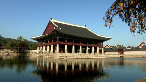Korea Traditional Gyeongbokgung Palace in Seoul Footage