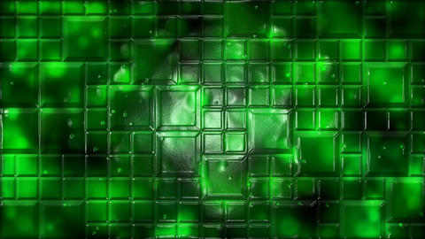 Abstract Tiled Background Animation - Loop Green Animation