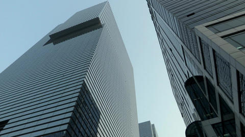 Skyscrapers in Gangnam Seoul, Korea Live Action