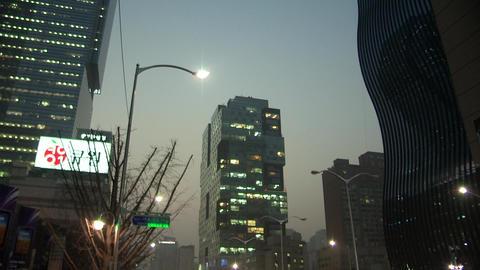 Skyscrapers in Gangnam Seoul, Korea Footage