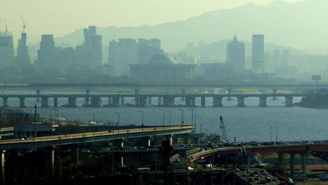 Factory In Mapo-gu Seoul, Korea stock footage