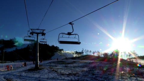 Ski resort in Pyeongchang-gun, Korea ภาพวิดีโอ