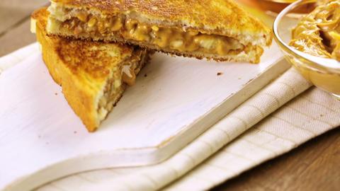Peanut butter sandwich Stock Video Footage