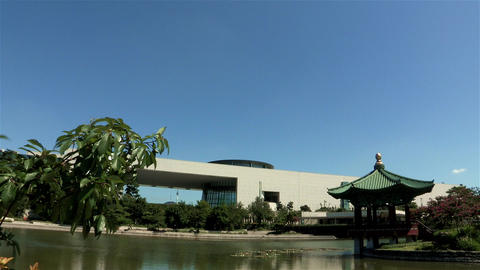 National Museum of Korea in Seoul, Korea Stock Video Footage