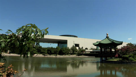 National Museum Of Korea In Seoul, Korea stock footage