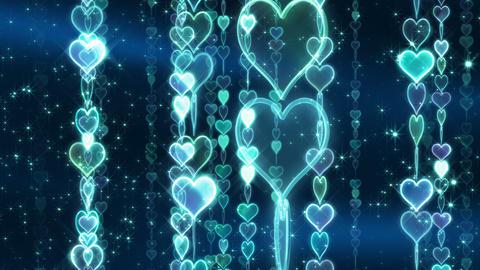 Chain line Heart 2 Rm Hb 4 K CG動画素材