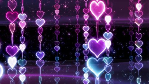 Chain line Heart 2 Rn Hb 4 K CG動画素材