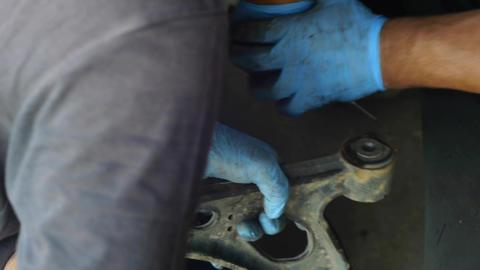 Auto mechanics who work to modify a piece car 35 Footage