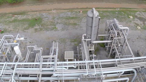 Oil Refinery 06 Pipelines Live Action