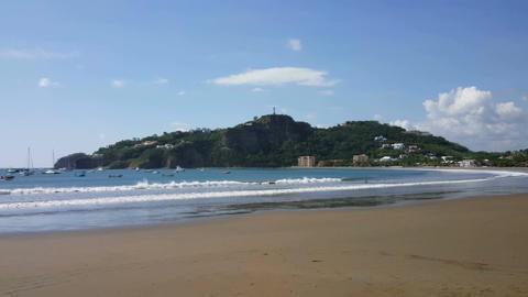Pacific Ocean and beach at San Juan de Sur Footage