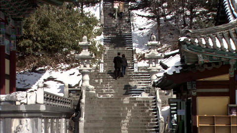 Traditional Temple of Incheon-si, Korea Live Action
