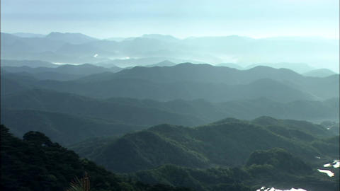 Landscape Of Mountain In Gyeongju-si, Gyeongbuk, Korea stock footage