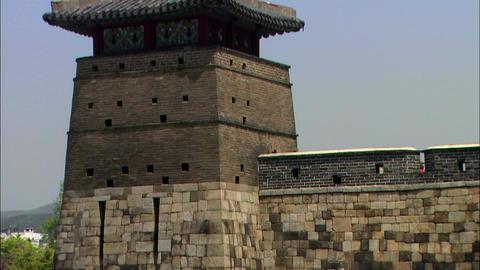 Korean Cultural Properties Suwon Hwaseong Fortress Footage