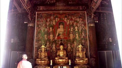 Traditional Temple of Uljin-gun, Gyeongbuk, Korea Footage