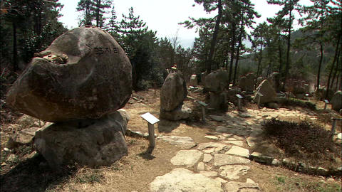 Memorial Stone in Jangheung-gun, Jeollanam-do, Korea Footage