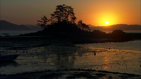 Sunset in Jangheung-gun, Jeollanam-do, Korea 실사 촬영