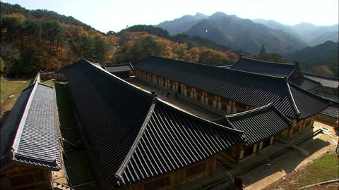 Haeinsa Temple in Hapcheon-gun, Gyeongsangnam-do, Korea Footage